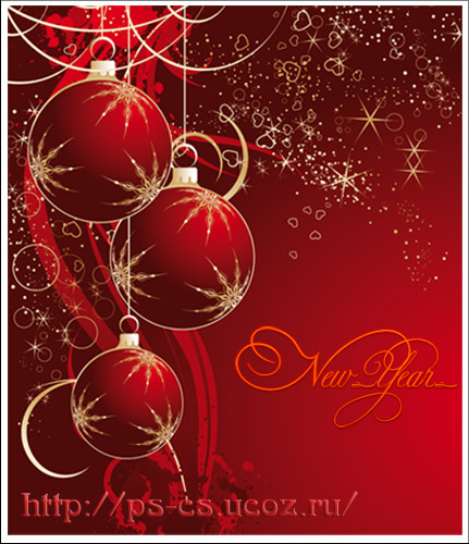 New Year vector Red