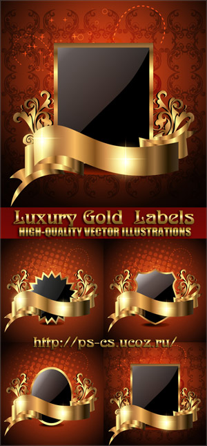 Stock Vector – Luxury Gold Labels