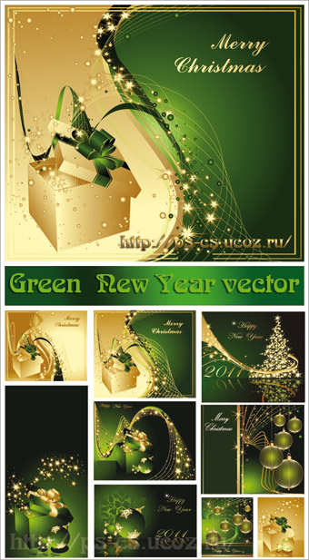 Green New Year Vector