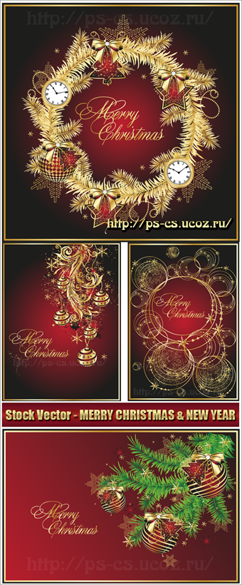 Stock Vector - MERRY CHRISTMAS & NEW YEAR