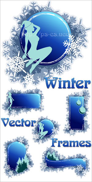 Winter Vector Frames