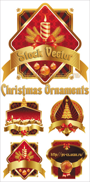 Stock Vector - Christmas Ornaments