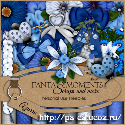 Скрап-набор - Fantasy moments: Azurro