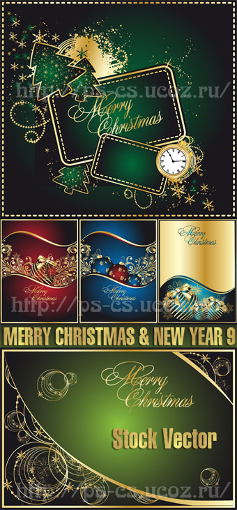 Stock Vector - MERRY CHRISTMAS & NEW YEAR 9
