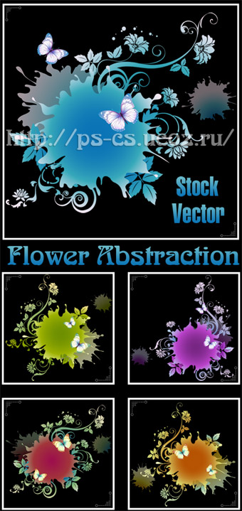 Flower Abstraction  Vector