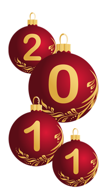 New Year Vector  Maroon Balls