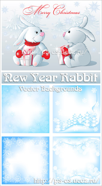 Rabbit Blue Background