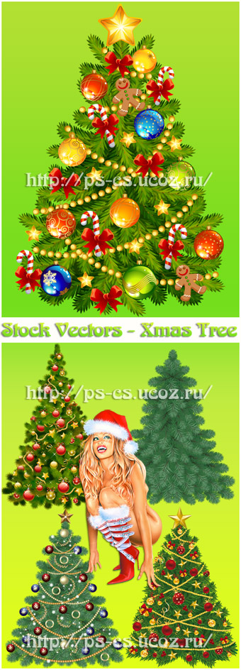 Stock Vectors Xmas Tree