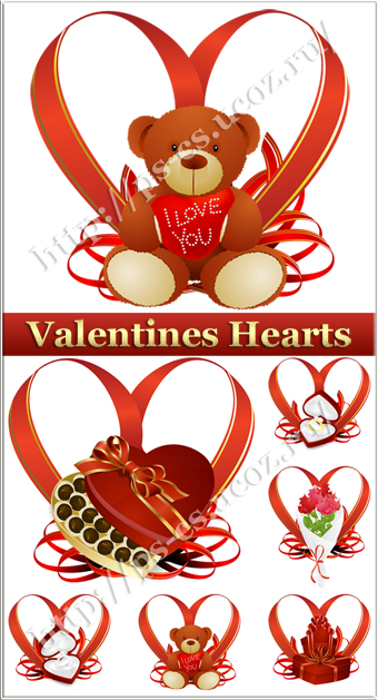 Valentines Day vector Hearts