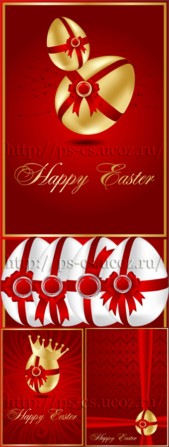 Abstract greeting Easter card - Пасхальные Фоны