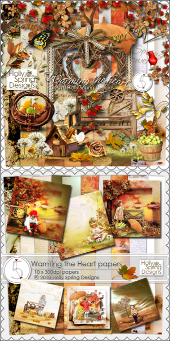 "Scrap-kit - ""Warming the Heart"" «Осеннее тепло»"